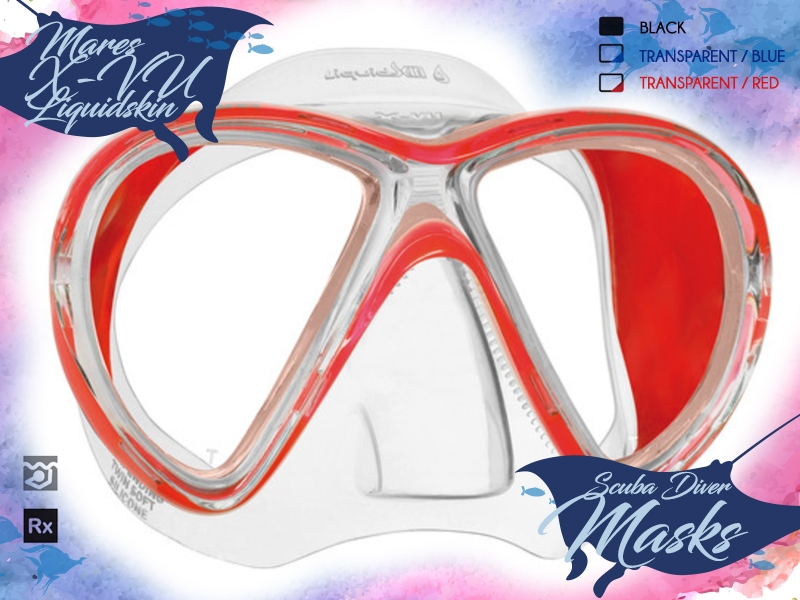 SDSDA-Dive-Masks-Mares-X-VU-Liquidskin-Red